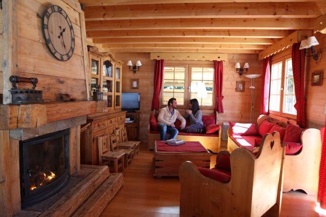 Sala de estar Alquiler Chalet 1412 Chamonix Mont-Blanc