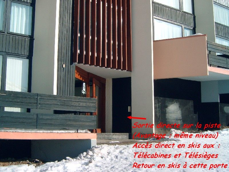 Vistas exteriores del alojamiento Alquiler Estudio 1615 Les Menuires