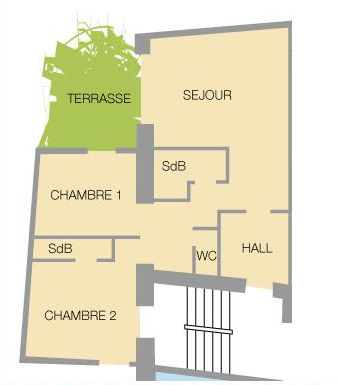 Plano del alojamiento Alquiler Apartamento 27146 Valloire