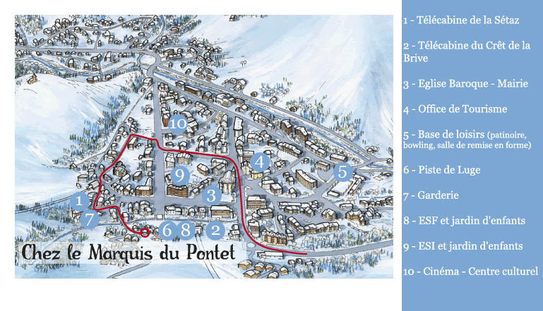 Mapa Alquiler Apartamento 27146 Valloire