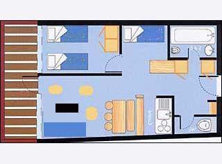 Plano del alojamiento Alquiler Apartamento 28016 Les Arcs