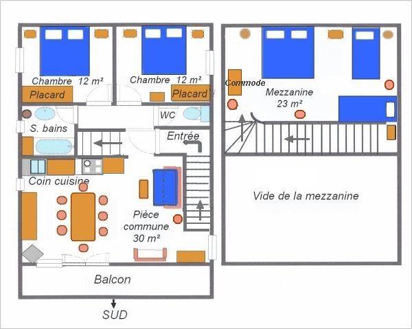 Plano del alojamiento Alquiler Chalet 3253 Val Cenis