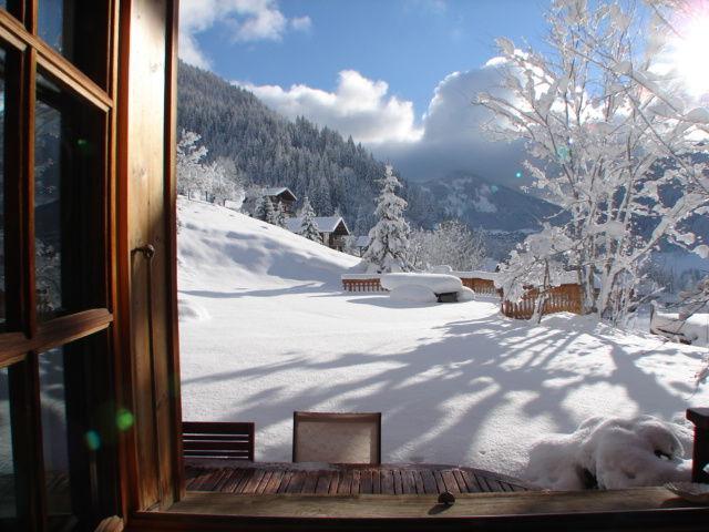 Vistas desde el alojamiento Alquiler Chalet 600 La Chapelle d'Abondance