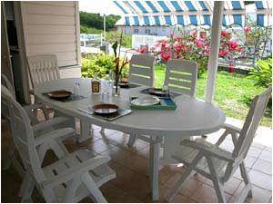 Terraza Alquiler Villa 8123 Sainte Anne (Martinique)