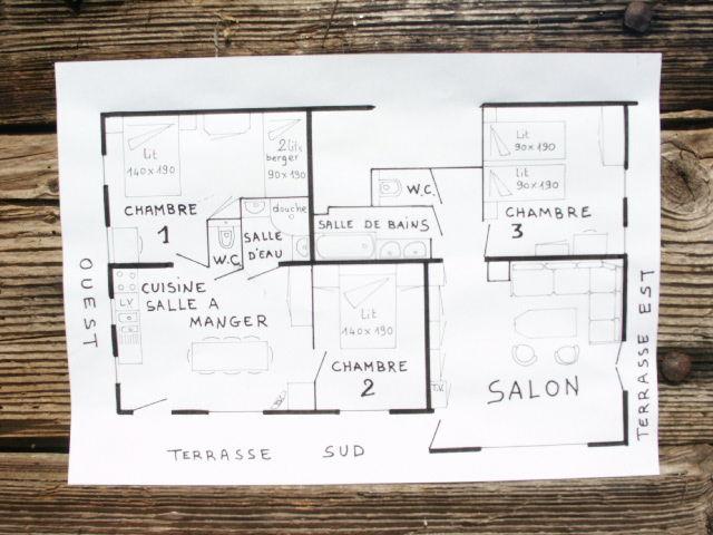 Plano del alojamiento Alquiler Apartamento 73326 La Clusaz
