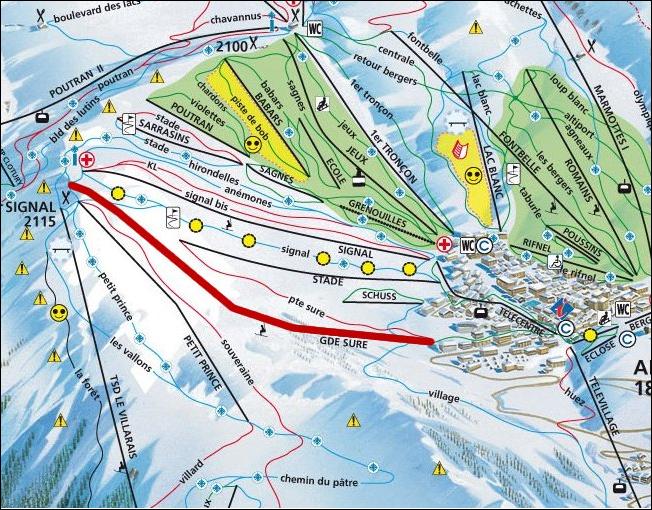 Mapa Alquiler Apartamento 64 Alpe d'Huez