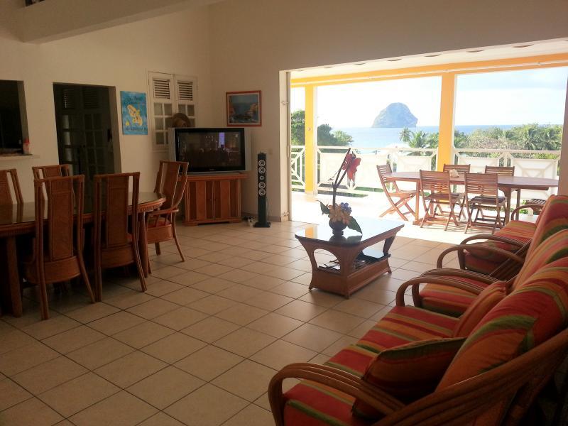 Vistas desde el alojamiento Alquiler Apartamento 84275 Le Diamant