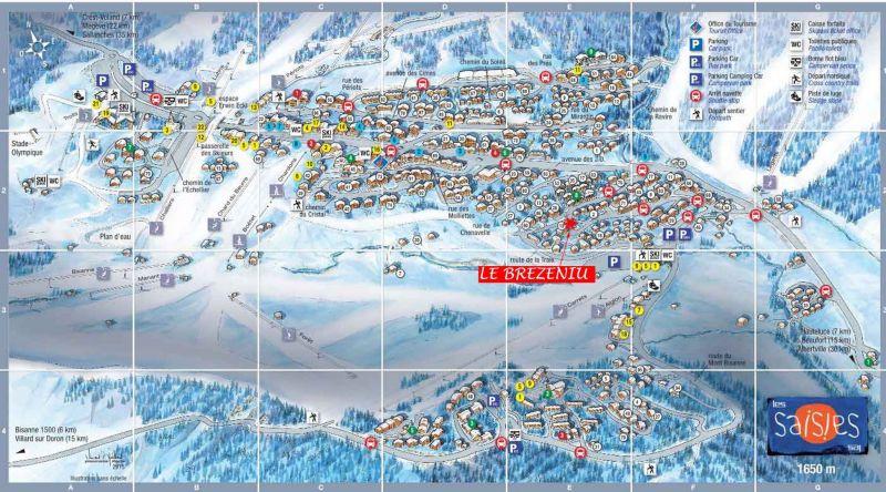 Mapa Alquiler Apartamento 114616 Les Saisies