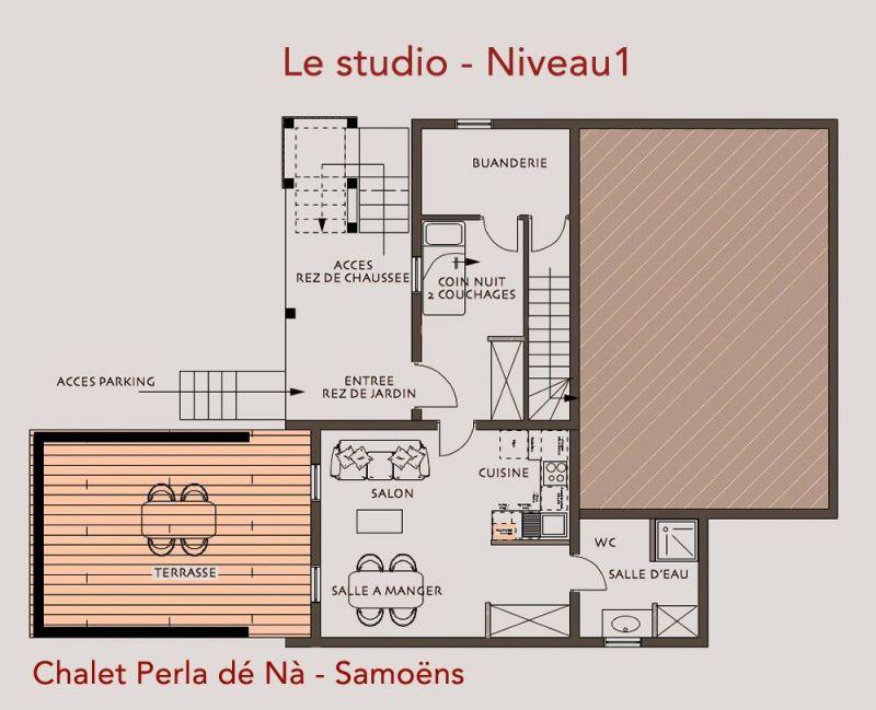 Plano del alojamiento Alquiler Chalet 117698 Samoëns