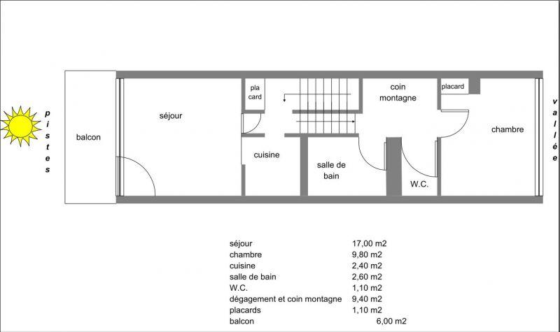 Plano del alojamiento Alquiler Apartamento 67748 Puy Saint Vincent