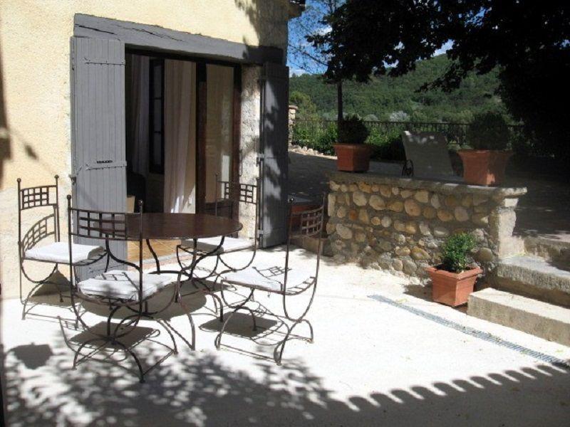 Vistas desde la terraza Alquiler Casa rural 111014 Gréoux Les Bains