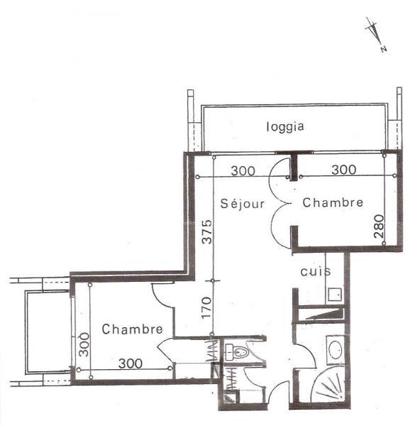 Plano del alojamiento Alquiler Apartamento 80072 Le Corbier