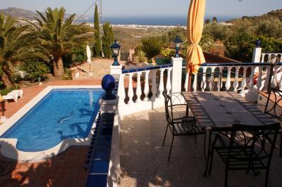 Vistas desde la terraza Alquiler Villa 11479 Nerja