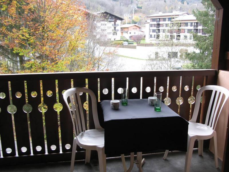 Vistas desde el balcón Alquiler Apartamento 1408 Les Houches