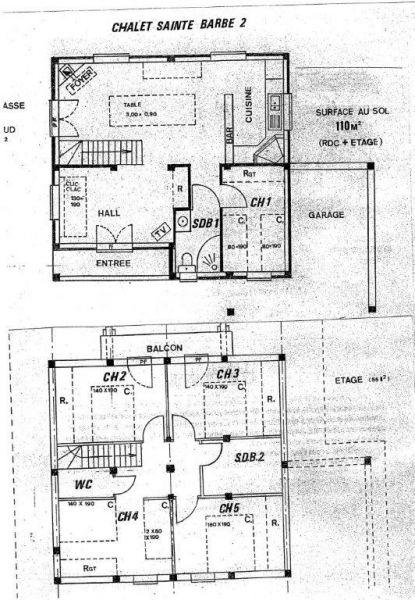 Plano del alojamiento Alquiler Chalet 14859 Praz de Lys Sommand