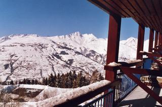 Vistas desde el balcón Alquiler Estudio 155 Les Arcs