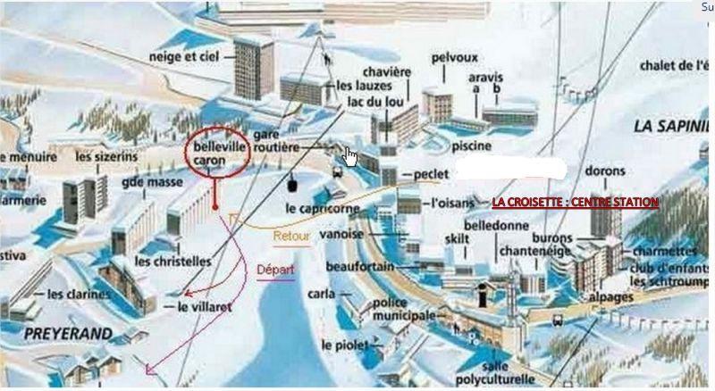 Plano del alojamiento Alquiler Estudio 1615 Les Menuires