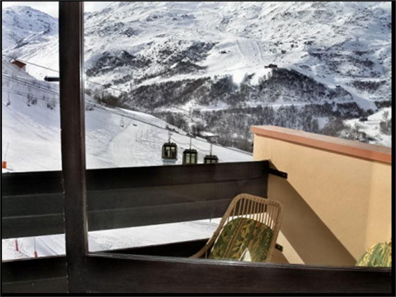 Vistas desde el balcón Alquiler Estudio 1615 Les Menuires