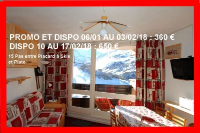 Sala de estar 1 Alquiler Estudio 1615 Les Menuires