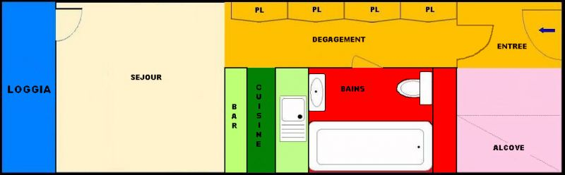 Plano del alojamiento Alquiler Estudio 211 Les Arcs