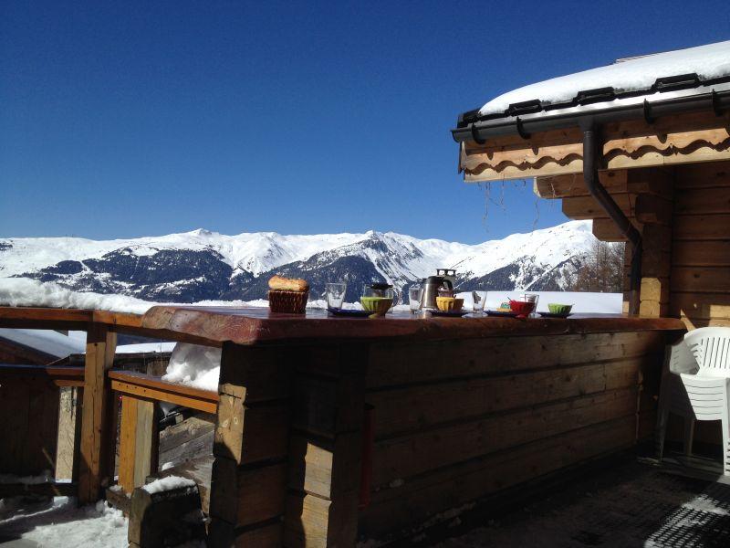Vistas desde la terraza Alquiler Chalet 2248 La Plagne