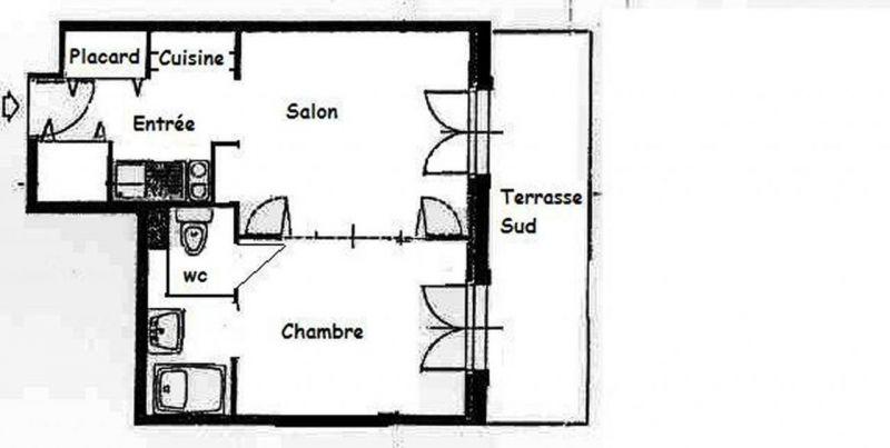 Plano del alojamiento Alquiler Apartamento 26825 Bagnères-de-Luchon