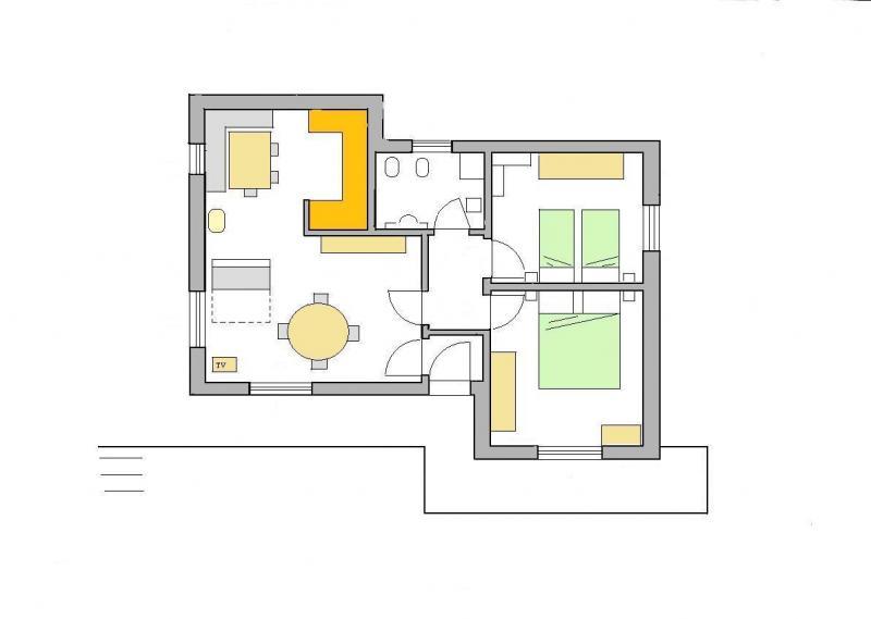 Plano del alojamiento Alquiler Apartamento 28148 Selva di Cadore