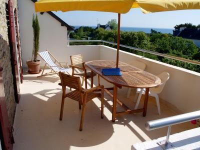 Terraza Alquiler Apartamento 28761 Quiberon