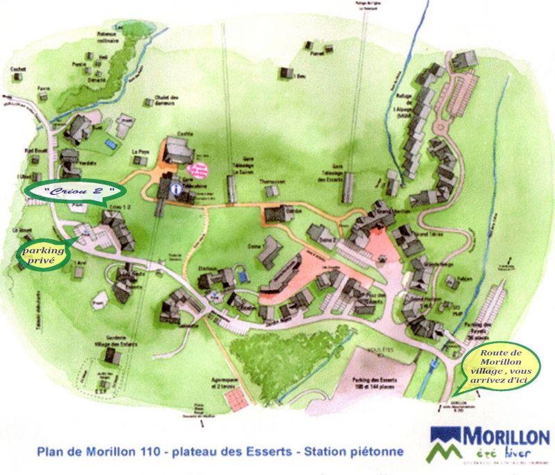 Mapa Alquiler Apartamento 29272 Morillon Grand Massif