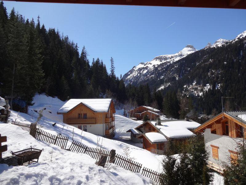 Vistas desde la terraza Alquiler Chalet 3291 Valfréjus