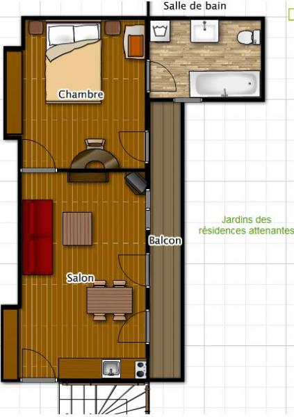Plano del alojamiento Alquiler Apartamento 56119 Cauterets