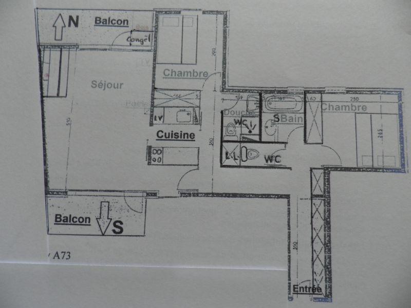 Plano del alojamiento Alquiler Apartamento 58207 La Plagne