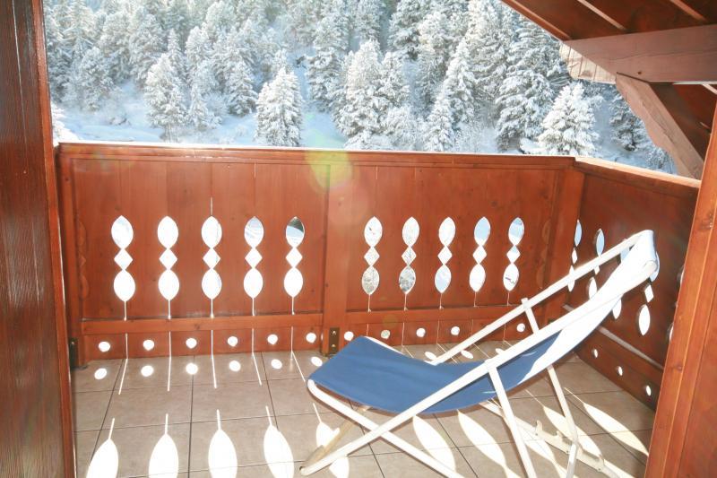 Vistas desde el balcón Alquiler Apartamento 58351 Méribel