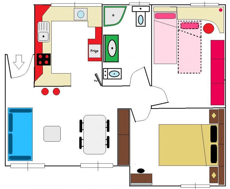 Plano del alojamiento Alquiler Apartamento 62297 Málaga