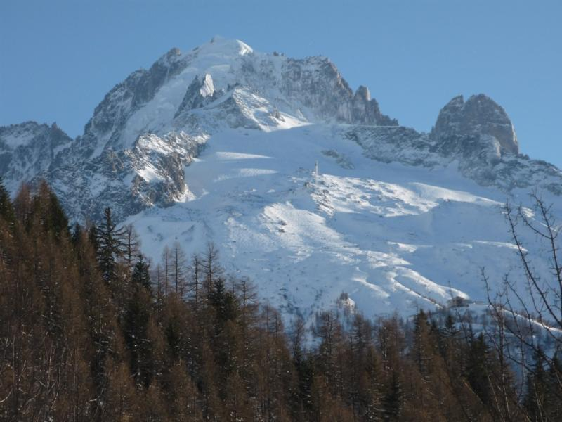 Vistas desde la terraza Alquiler Chalet 706 Chamonix Mont-Blanc