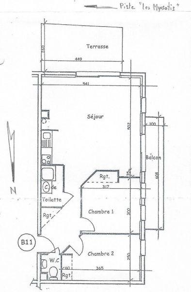 Plano del alojamiento Alquiler Apartamento 97230 Valloire