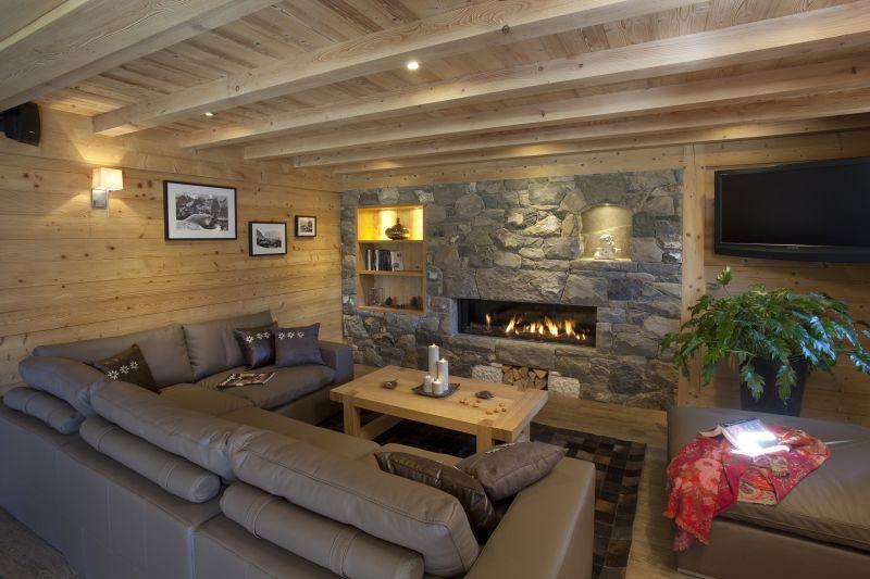 Sala de estar 1 Alquiler Chalet 86535 Le Grand Bornand