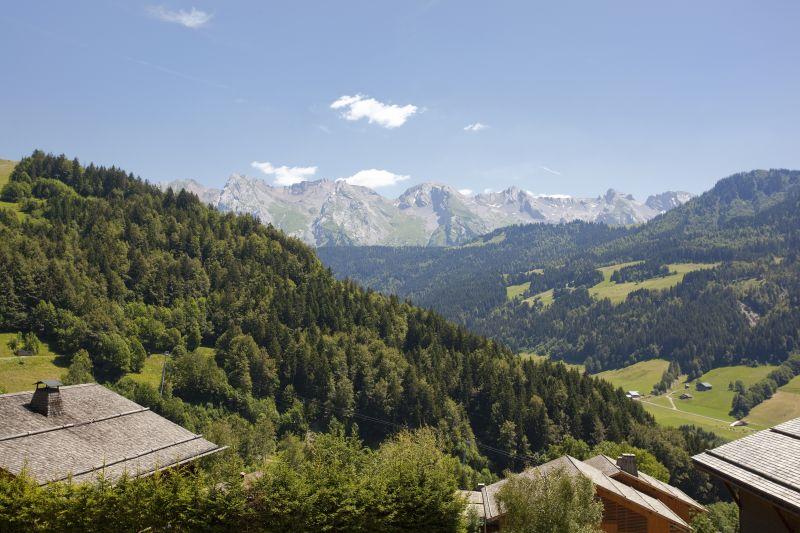Vistas desde el balcón Alquiler Chalet 86535 Le Grand Bornand