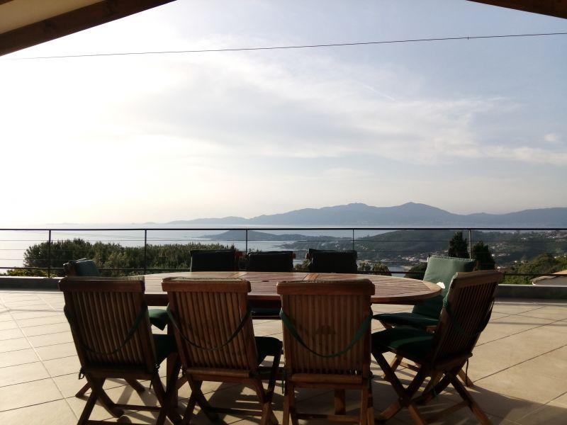 Vistas desde la terraza Alquiler Villa 114573 Porticcio