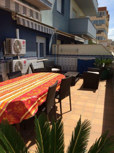 Terraza Alquiler Apartamento 8306 Rosas