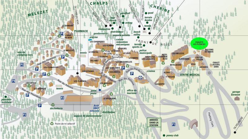 Plano del alojamiento Alquiler Chalet 111824 Risoul 1850
