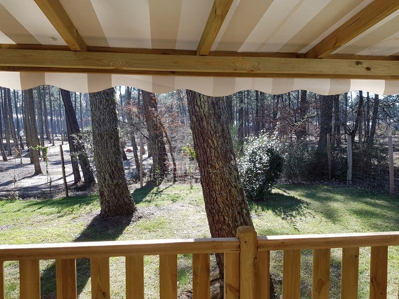 Vistas desde la terraza Alquiler Mobil home 114302 Lit-et-Mixe