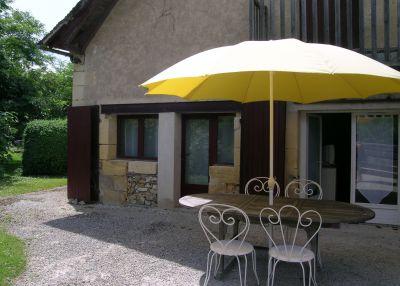 Terraza Alquiler Casa rural 81835 Bergerac
