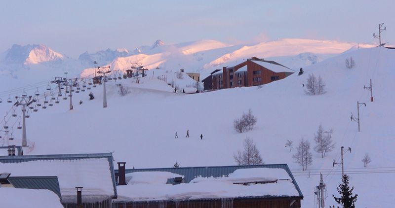 Vistas desde el balcón Alquiler Apartamento 64 Alpe d'Huez