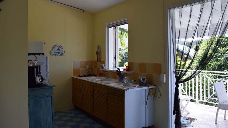 Cocina de verano Alquiler Casa rural 73814 Deshaies