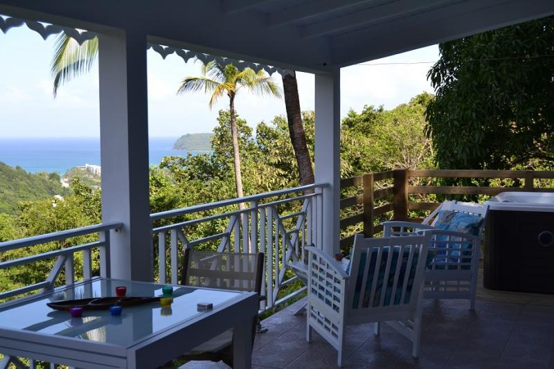Vistas desde la terraza Alquiler Casa rural 73814 Deshaies