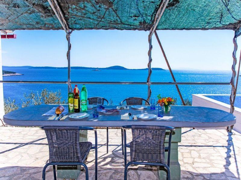 Vistas desde la terraza Alquiler Casa 114372 Trogir
