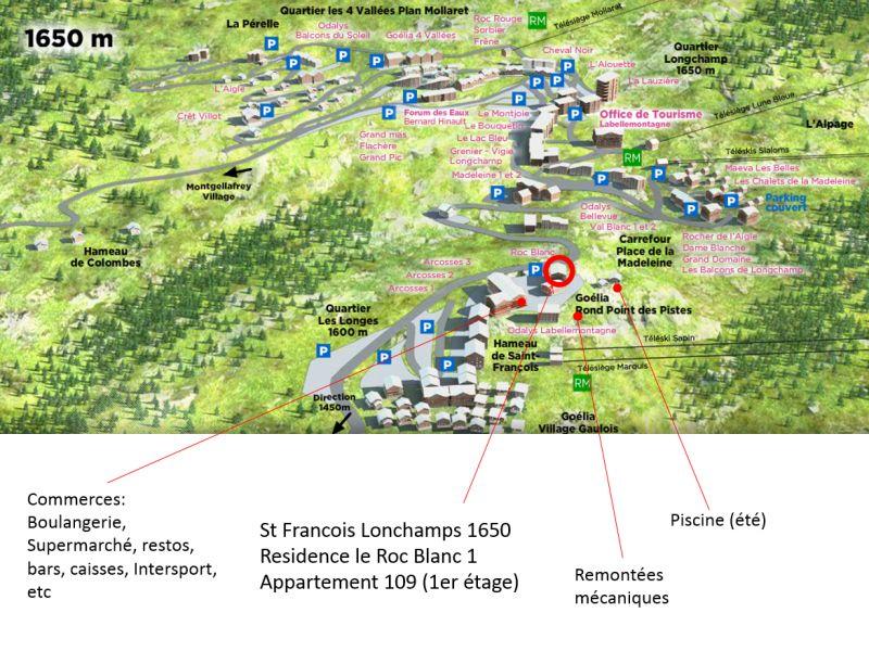 Plano del alojamiento Alquiler Apartamento 73582 Saint François Longchamp