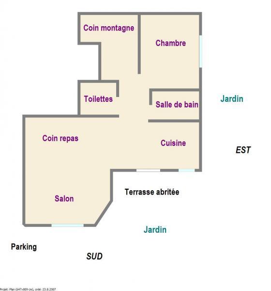 Plano del alojamiento Alquiler Apartamento 78318 Serre Chevalier