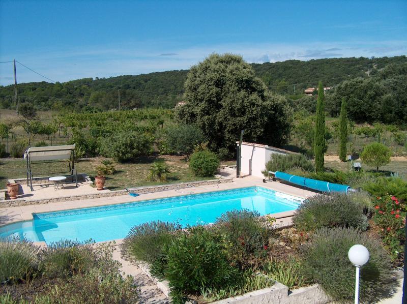 Vistas desde el balcón Alquiler Villa 83534 Anduze